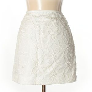The Limited White Floral Pnt Mini Casual Skirt 10
